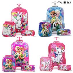 kids Travel suitcase on wheels 3D Anime stereo Student troll