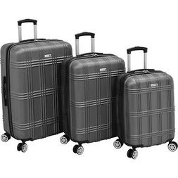 kingsbury 3 piece expandable hardside luggage set