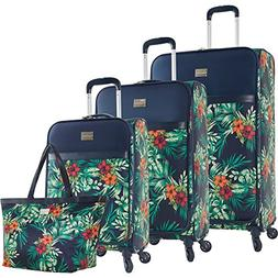Tommy Bahama Unisex  St Kitts 4 Piece Luggage Set Printed Co