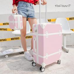 Travel Belt Korean Retro Women Rolling <font><b>Luggage</b><