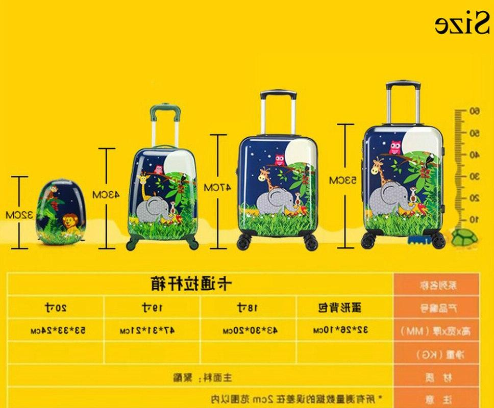 18/19/20 Inch Cute Child Rolling Spinner Suitcase Student <font><b>Carry</b></font> <font><b>on</b></font> Trolley Kids Girl Boy Bag