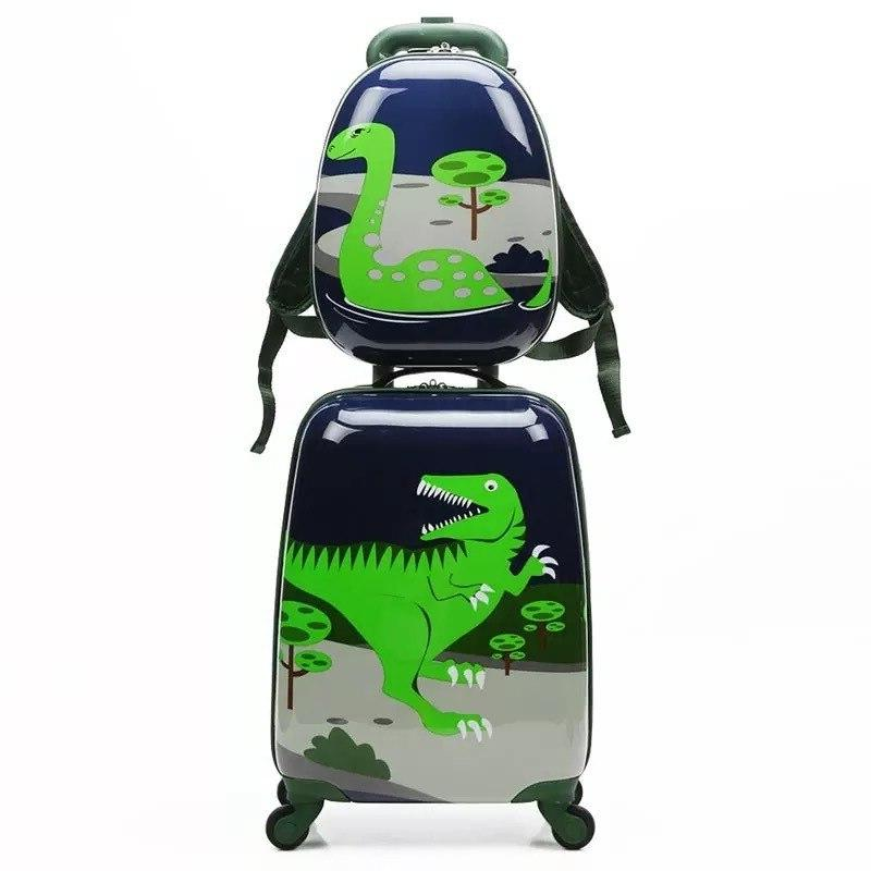 18/19/20 Cute Cartoon Child <font><b>Luggage</b></font> Spinner Wheels <font><b>Carry</b></font> Trolley Kids Girl Boy Travel