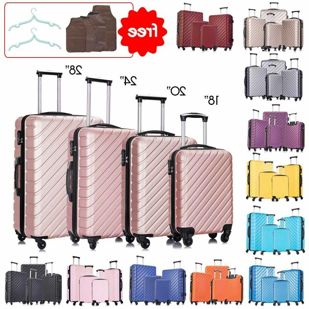 "18""20""24""28"" 4 Piece Set-Luggage ABS Light Travel Case Hards"