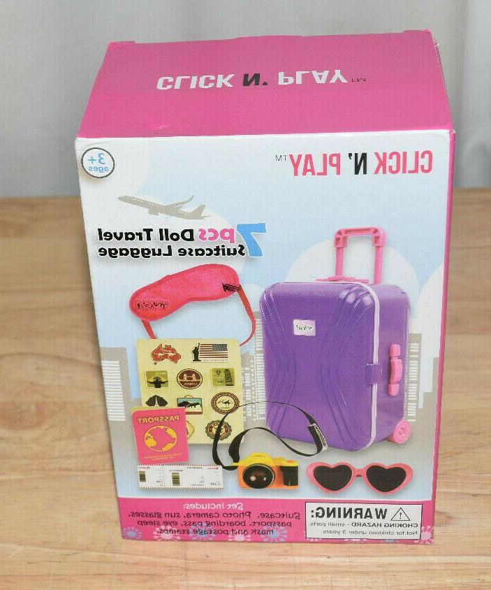 18 inch doll luggage suitcase