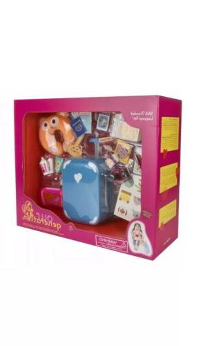 18 inch doll well traveled luggage set