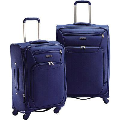 2 piece expandable spinner luggage set