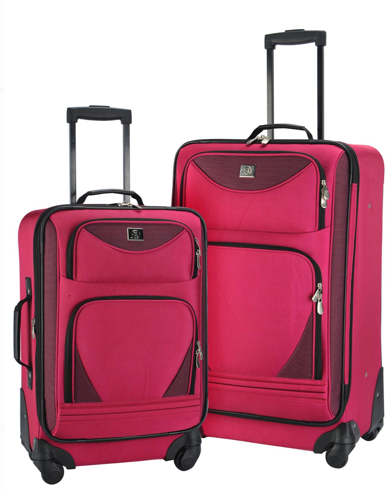 2 piece expandable spinner set travel luggage