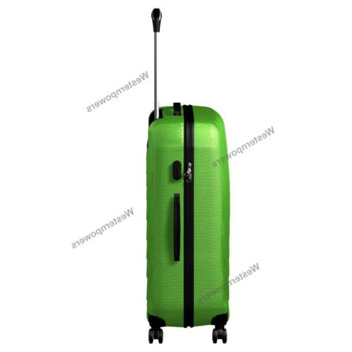 2 Piece Lightweight Suitcase Hardside Spinner Luggage Set 20'' 24'' Green