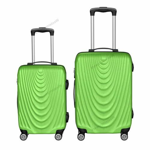 2 piece lightweight suitcase hardside spinner luggage
