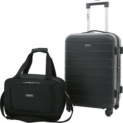 2 piece rolling expandable carry on luggage