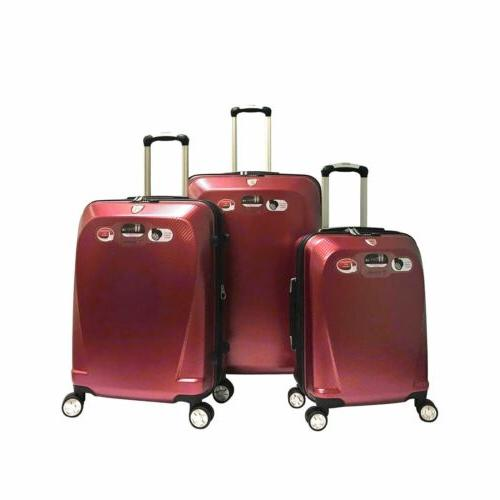 "Ginza 20"" 24"" 28"" 100% 3 Travel Luggage Sets Red"