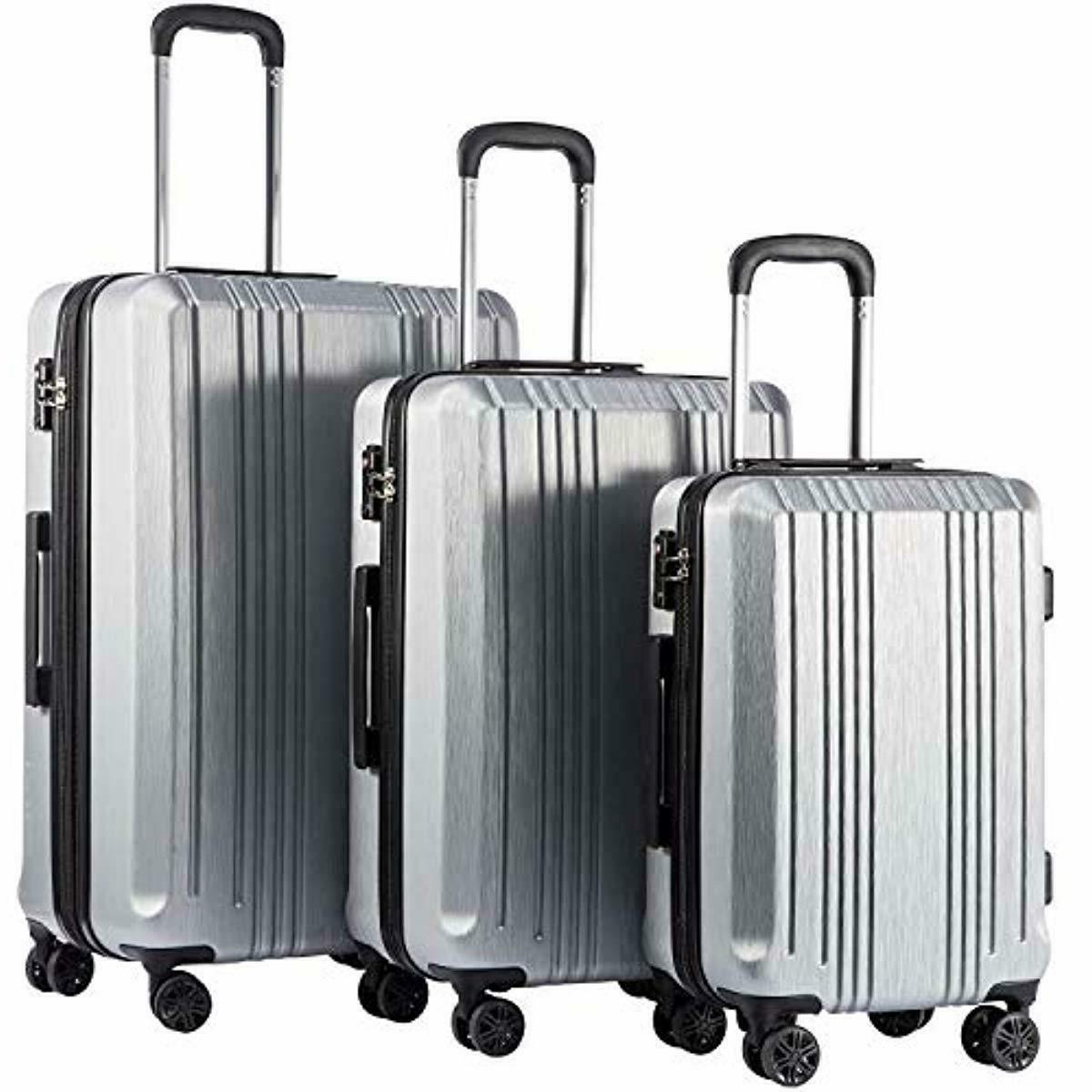 20in24in28in luggage expandable suitcase pc abs 3