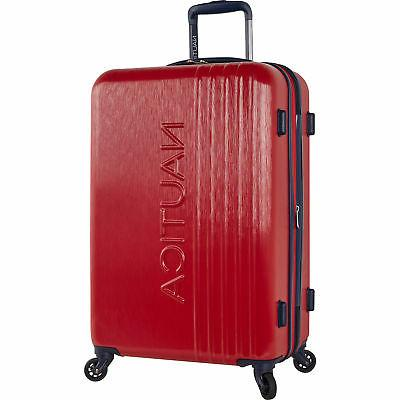 28 hardside expandable spinner luggage red