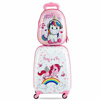 2PC Kids Luggage Set Made of High Quality ABS 12'' Backpack