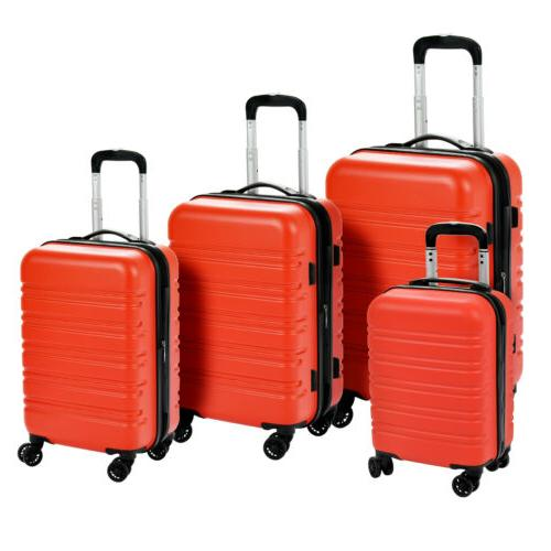 3/4Pcs ABS Trolley On Luggage Bag Suitcase TSA Lock