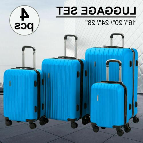 3/4Pcs ABS Trolley Carry On TSA Lock