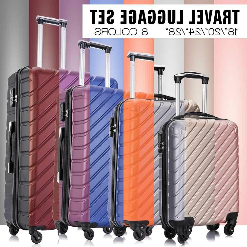 3/4/5Pcs Travel Bag Trolley Spinner ABS