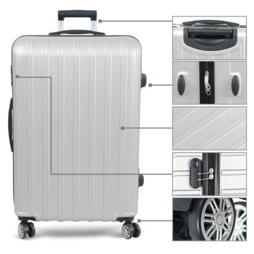 3PC Luggage ABS Travel Spinner Business Hard Shell