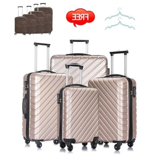 3 / 4PCS Luggage Set Bag Trolley ABS Carry Business Suitcase