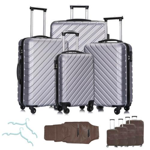 3 4PCS Luggage Bag Trolley ABS Spinner Carry On Business
