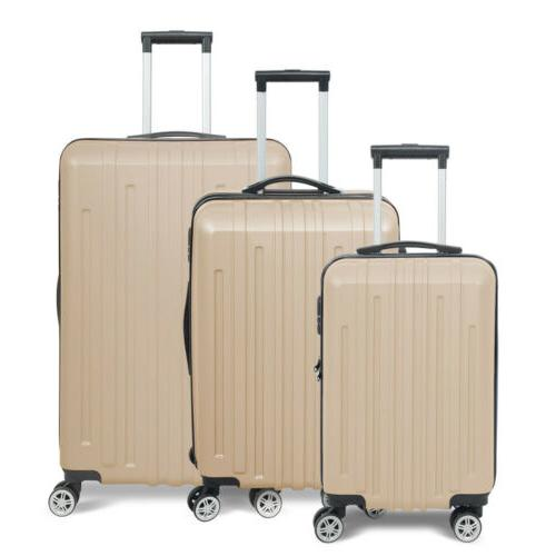 NEW 3x Travel Luggage Set Bag Trolley Spinner Business Hard