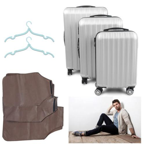 3pc luggage set abs travel bag trolley