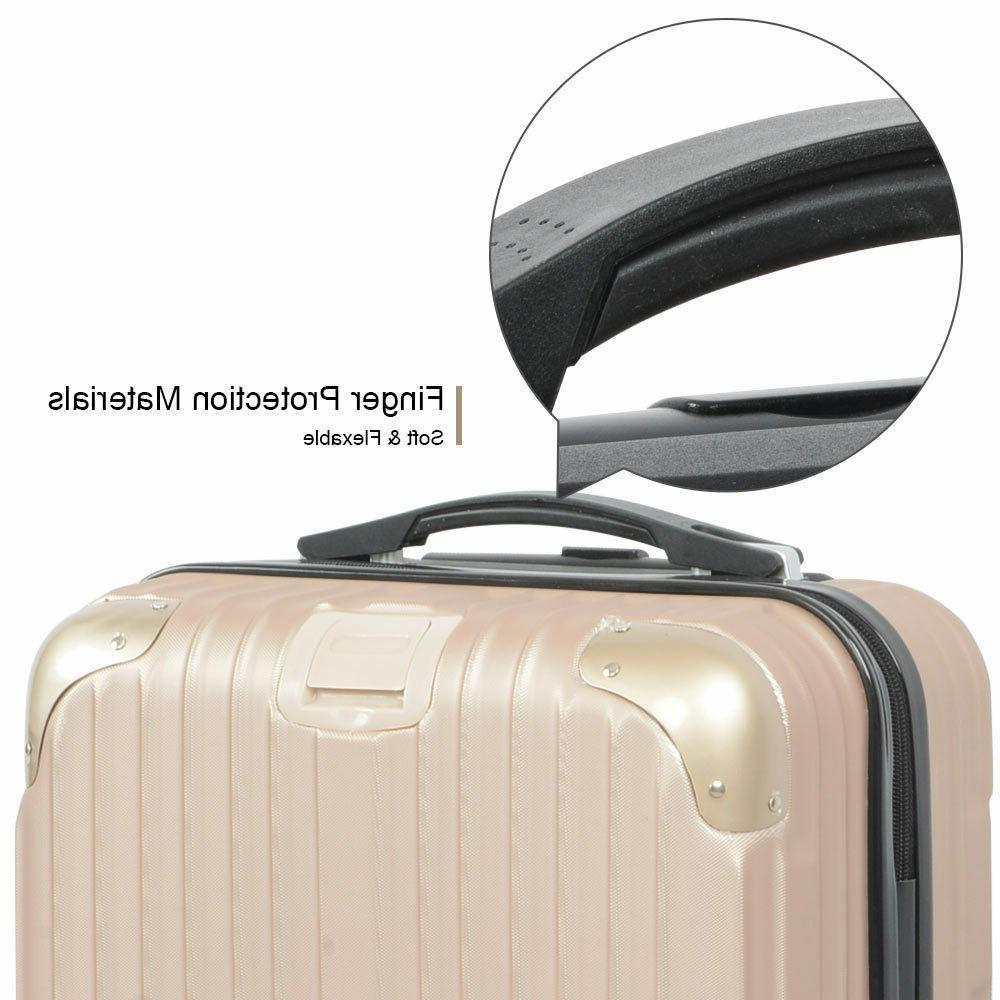 3PCS Set Hardshell Suitcase 20'' 24''