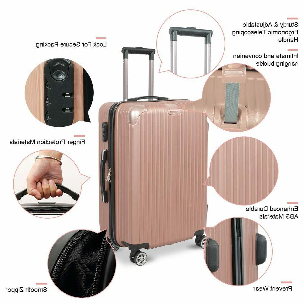 3PCS Lightweight Luggage Hardshell Suitcase 20''
