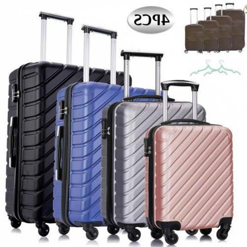 3 pcs luggage suitcase sets spinner wheel
