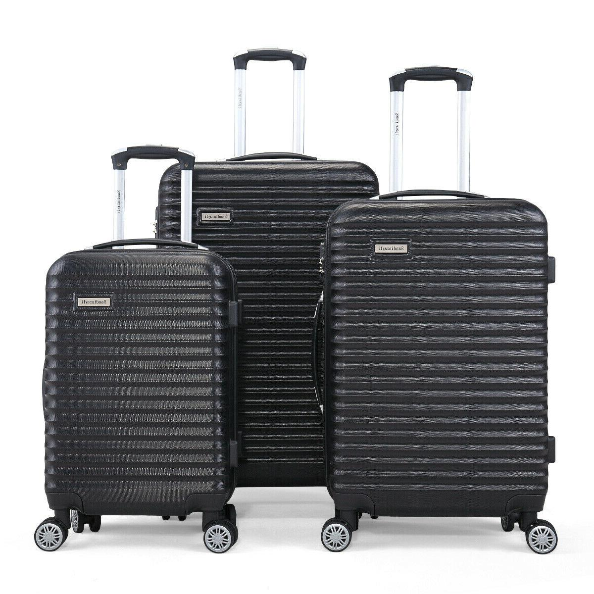 "3 Travel Bag Trolley Suitcase 22"" 30"""