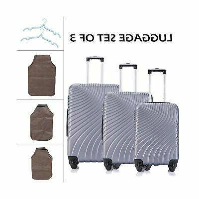 Apelila Luggage Sets Wheels Shell Carry...