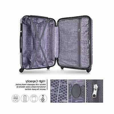 Apelila Piece Luggage Wheels Hard Shell Carry...