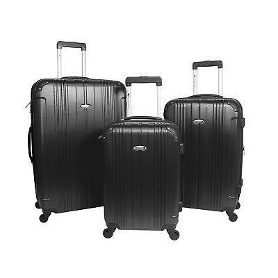 3 piece hardside expandable lightweight spinner luggage