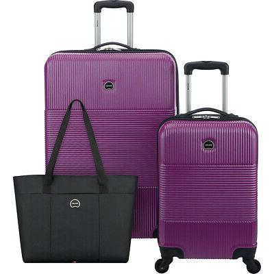 Delsey 3 Piece Hardside Spinner Luggage Set 2 Colors