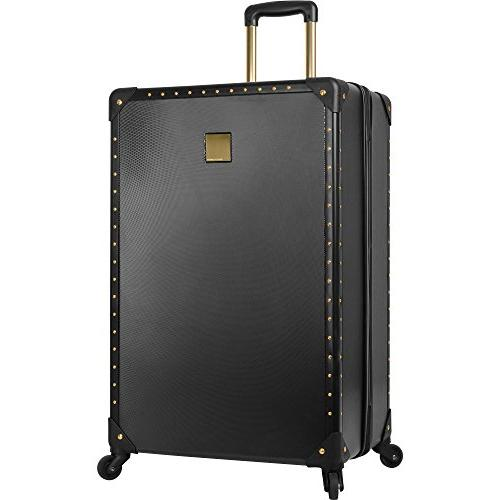 Vince 3 Piece Hardside Luggage Black/Gold