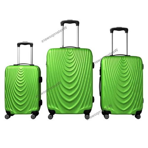 3 Piece Lightweight Hardside Luggage Set 20'' Green
