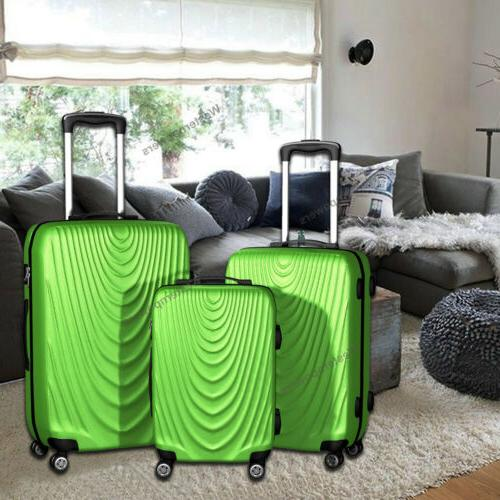 3 piece lightweight suitcase hardside spinner luggage
