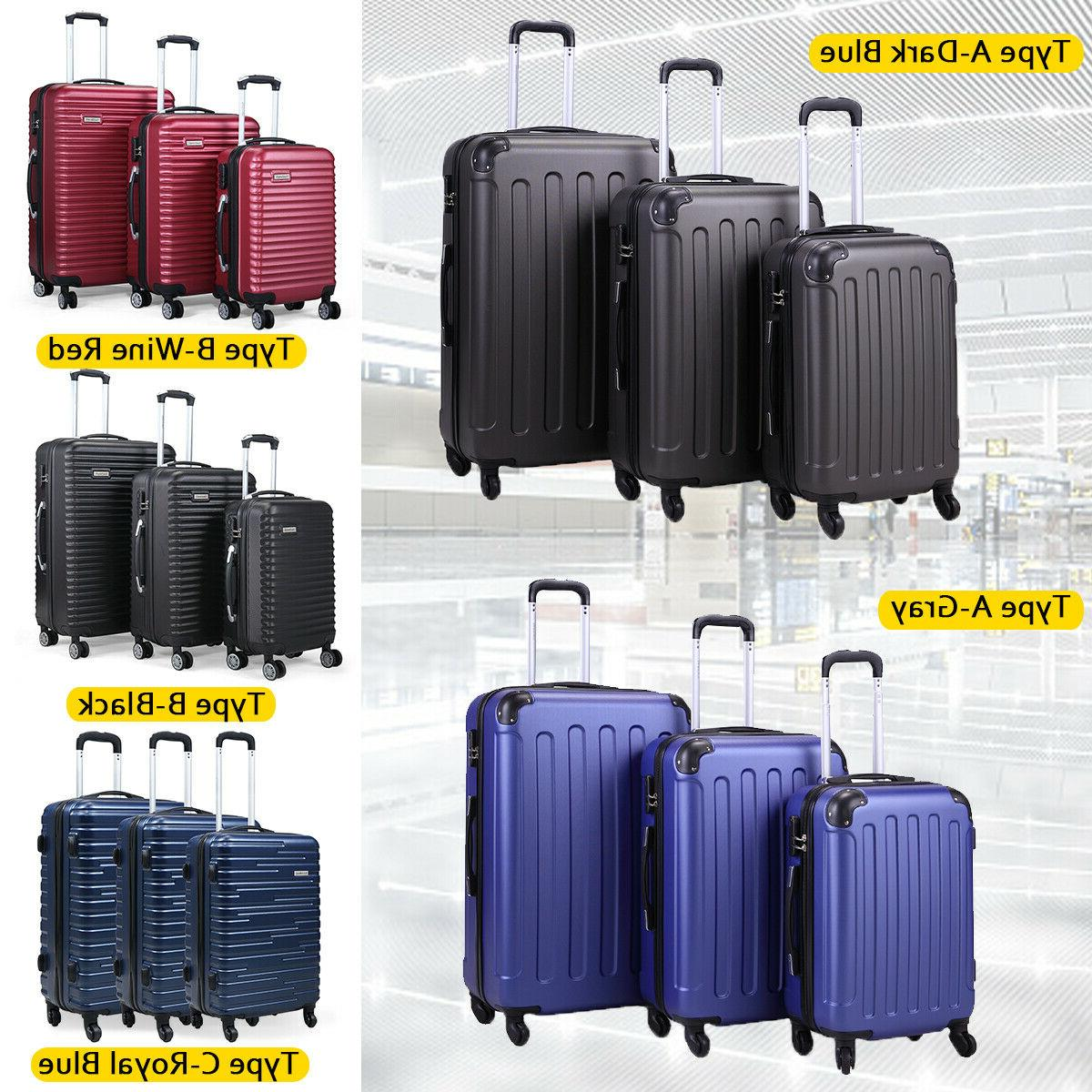3 Piece Luggage Carry On Cover Travel ABS+PC