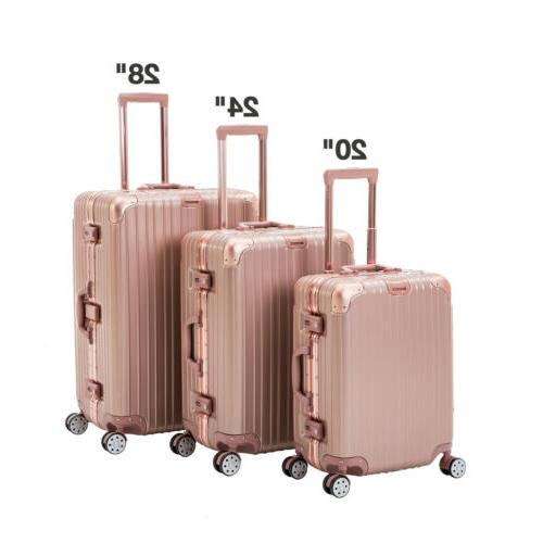 3 piece luggage set spinner travel bag