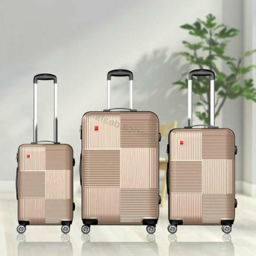 """3 Lightweight Durable Spinner Carry On 20"""" 28"""""""