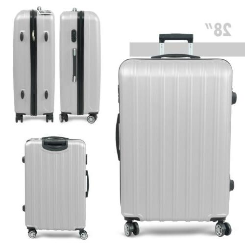 3PC Luggage ABS Travel Bag Business Hard Gray