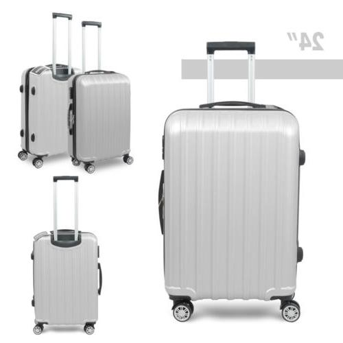 3PC Luggage Set ABS Travel Bag Spinner Business Gray