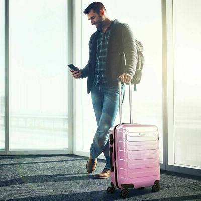 "3PCS Suitcase PC+ABS Spinner Lock 24"" 28"" Pink"
