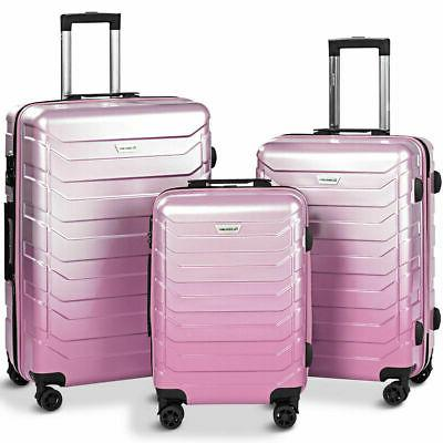 3pcs luggage set expandable suitcase pc abs