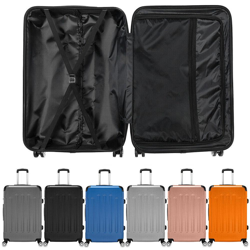 "20/24/28"" 3pcs Luggage Travel Set Bag ABS Trolley Hard Shell"