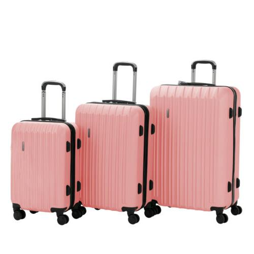 3pcs luggage set travel bag trolley spinner
