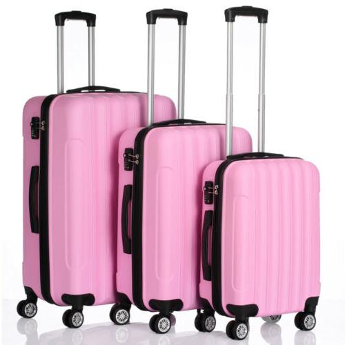 3PCS LUGGAGE ABS SHELL SUITCASE LOCK CUTE