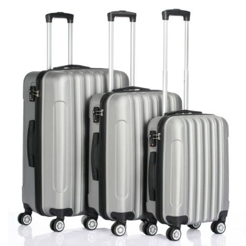 3 pcs luggage travel set bag abs