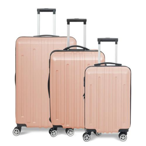 3x Travel Luggage Set Bag Trolley Spinner Business Hard Shel