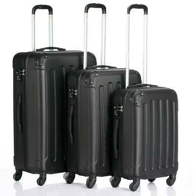 3x travel spinner luggage set bag abs